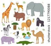 african animal vector wild... | Shutterstock .eps vector #1217790088