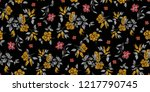 seamless floral pattern in... | Shutterstock .eps vector #1217790745