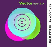disk icon. flat logo of disk... | Shutterstock .eps vector #1217794048