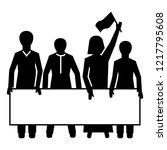demonstration crowd icon....   Shutterstock .eps vector #1217795608