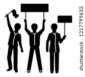 people group demonstration icon.... | Shutterstock .eps vector #1217795632