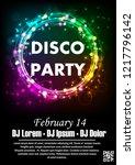 disco night party vector poster ... | Shutterstock .eps vector #1217796142