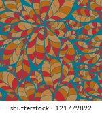 doodle chestnut leaves seamless ... | Shutterstock . vector #121779892