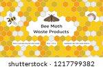 bee  wax moth  waxworm  bee comb | Shutterstock .eps vector #1217799382