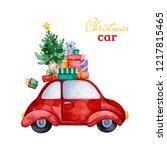 christmas abstract retro car...   Shutterstock . vector #1217815465