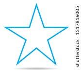 star icon thin line vector...