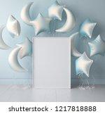 mock up poster in interior...   Shutterstock . vector #1217818888