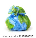 garbage bag with the texture of ... | Shutterstock . vector #1217820355