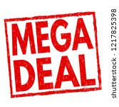 mega deal sign or stamp on... | Shutterstock .eps vector #1217825398