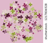 violet abstract flower colorful ... | Shutterstock .eps vector #1217836528