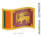 sri lanka waving flag vector... | Shutterstock .eps vector #1217842378