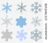 distress painted snow flake... | Shutterstock .eps vector #1217845108
