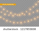 christmas decorations  isolated ... | Shutterstock .eps vector #1217853838