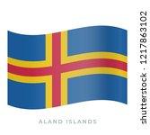 aland islands waving flag... | Shutterstock .eps vector #1217863102