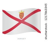 jersey waving flag vector icon. ... | Shutterstock .eps vector #1217863345