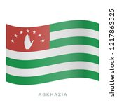 abkhazia waving flag vector... | Shutterstock .eps vector #1217863525