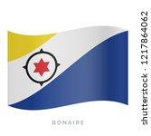 bonaire waving flag vector icon.... | Shutterstock .eps vector #1217864062