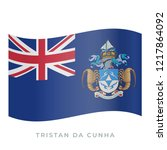 tristan da cunha waving flag... | Shutterstock .eps vector #1217864092