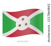 burundi waving flag vector icon.... | Shutterstock .eps vector #1217864842