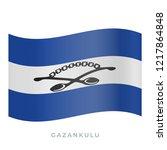 gazankulu waving flag vector... | Shutterstock .eps vector #1217864848