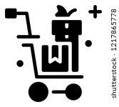 shopping icon vector | Shutterstock .eps vector #1217865778