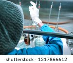 scientist doing the... | Shutterstock . vector #1217866612