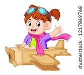 vector illustration of cute...   Shutterstock .eps vector #1217869768