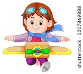 vector illustration of cute...   Shutterstock .eps vector #1217869888
