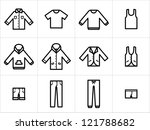 clothing icons set 1. set  of... | Shutterstock .eps vector #121788682