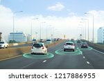 smart car  self driving mode... | Shutterstock . vector #1217886955