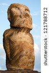 Moai of Ahu Tongariki, Easter Island, Chile, Polynesia. - stock photo
