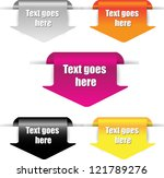 web page label banners | Shutterstock .eps vector #121789276