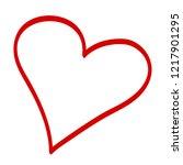 heart vector. hand drawn icon.... | Shutterstock .eps vector #1217901295