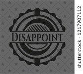 disappoint black emblem | Shutterstock .eps vector #1217907112