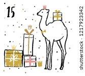 christmas advent calendar with... | Shutterstock .eps vector #1217923342