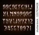 diamond gold alphabet font.... | Shutterstock .eps vector #1217924428