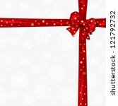 christmas background with red... | Shutterstock . vector #121792732