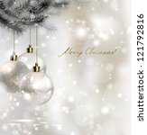 Shiny Christmas Background Wit...