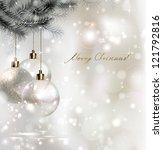 Shiny Christmas Background Wit...