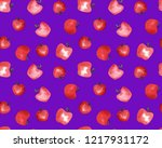 seamless endless hand painting... | Shutterstock . vector #1217931172