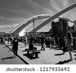 newcastle upon tyne england.... | Shutterstock . vector #1217933692