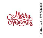 merry christmas vector text... | Shutterstock .eps vector #1217937028