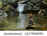 various shaped stacked zen... | Shutterstock . vector #1217940592