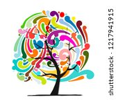 abstract swirl tree for your... | Shutterstock .eps vector #1217941915