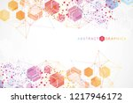 hexagonal abstract background.... | Shutterstock .eps vector #1217946172