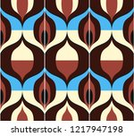 seamless retro pattern in the... | Shutterstock .eps vector #1217947198