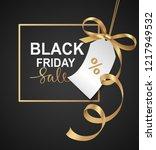 black friday sale banner design.... | Shutterstock .eps vector #1217949532