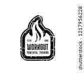 workout club emblem for t shirt ...   Shutterstock .eps vector #1217956228