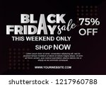 black friday sale poster with...   Shutterstock .eps vector #1217960788