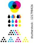 cmyk marks for use on cartridge ... | Shutterstock .eps vector #121798426
